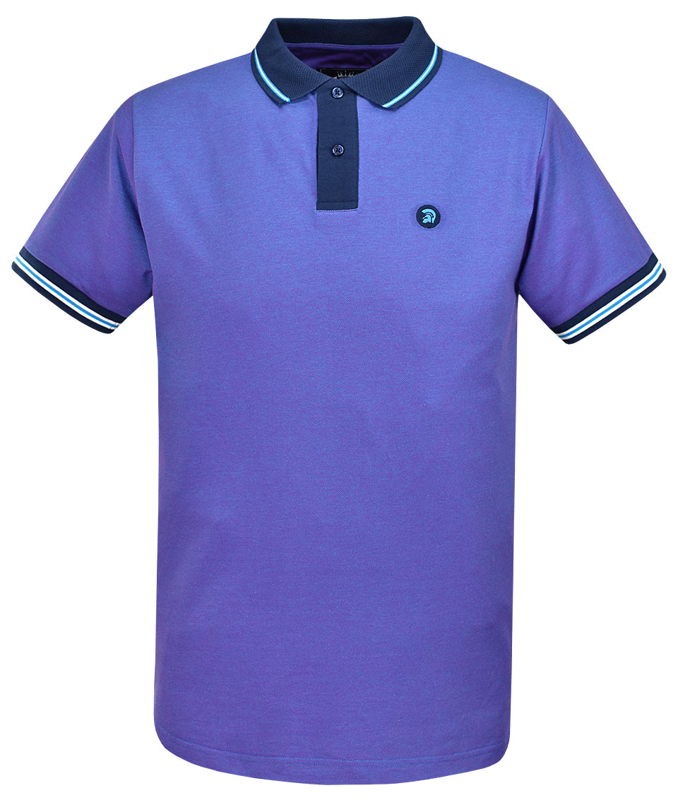 c6cc9a42c Trojan Records Two Tone Plain Polo Shirt - Modfellas Clothing