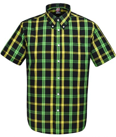 Warrior Black Jamaican Tosh Check Shirt
