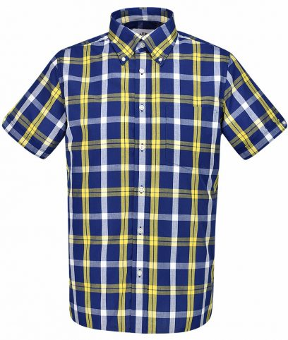 Brutus Blue Yellow Windowpane Check Shirt