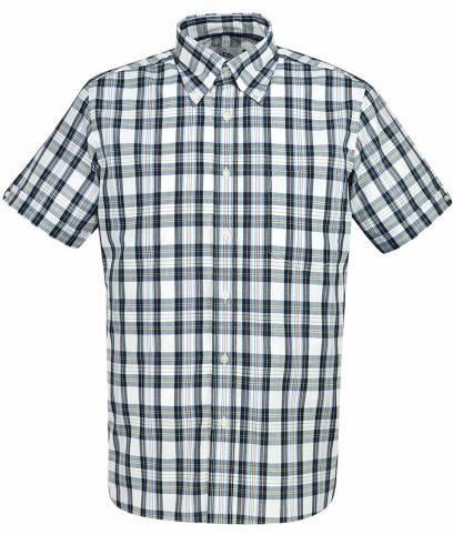 Brutus Classic White Tartan Check Shirt
