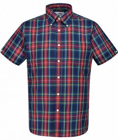 Brutus Navy Xmas Tartan Check Shirt