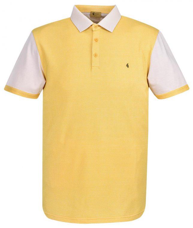 Gabicci Vintage Oat Jacquard Polo T-Shirt