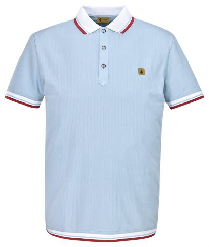 Gabicci Vintage Sky Tipped Polo T-Shirt