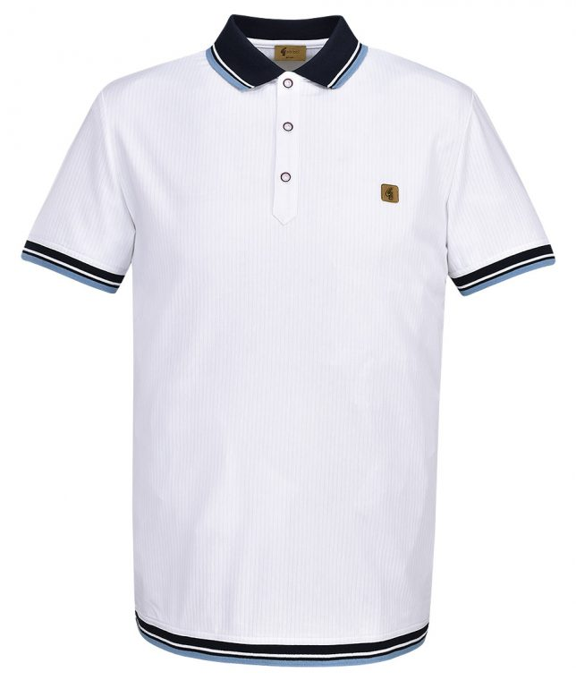 Gabicci Vintage White Tipped Polo T-Shirt