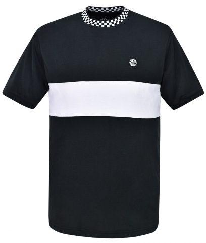Ska & Soul Black Chequerboard Stripe T-Shirt