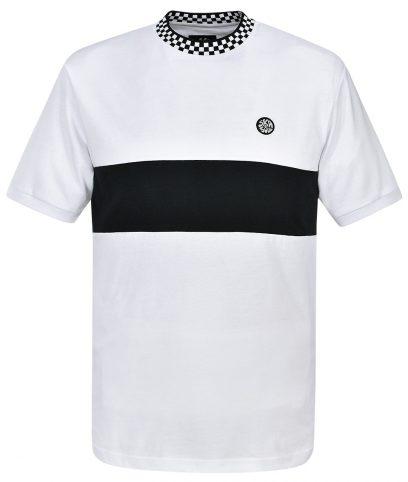 Ska & Soul White Chequerboard Stripe T-Shirt