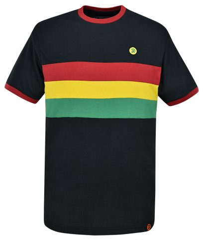 Trojan Records Rasta Stripe Front T-Shirt