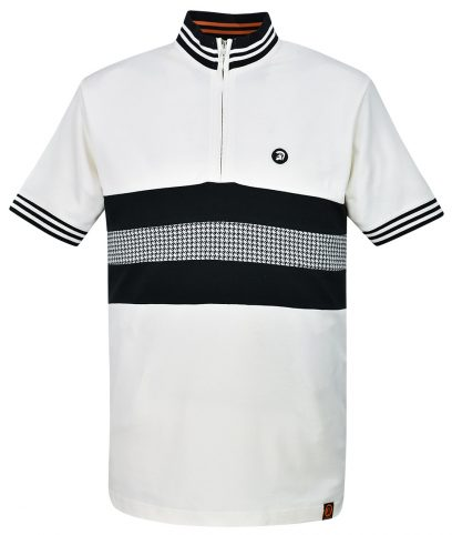 Trojan Records Ecru Stripe Front Cycling Top