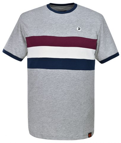 Trojan Records Grey Stripe Front T-Shirt