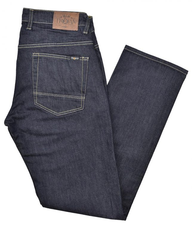 Trojan Records Raw Easy Fit Stretch Jeans