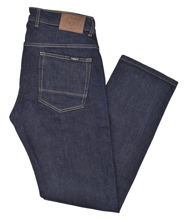 Trojan Records Raw Slim Fit Stretch Jeans