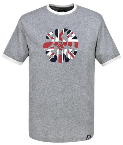 Ska & Soul Grey Union Jack Logo T-Shirt