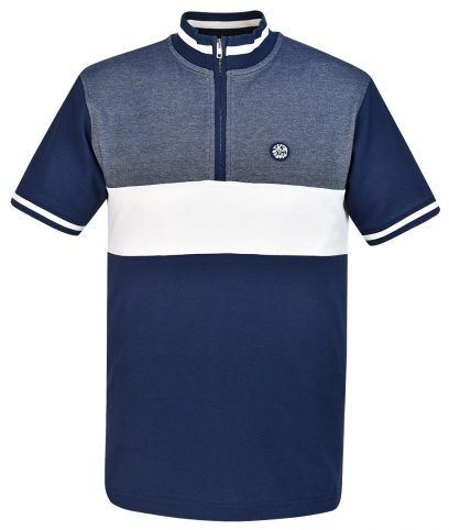 Ska & Soul Navy Stripe Front Cycling Top