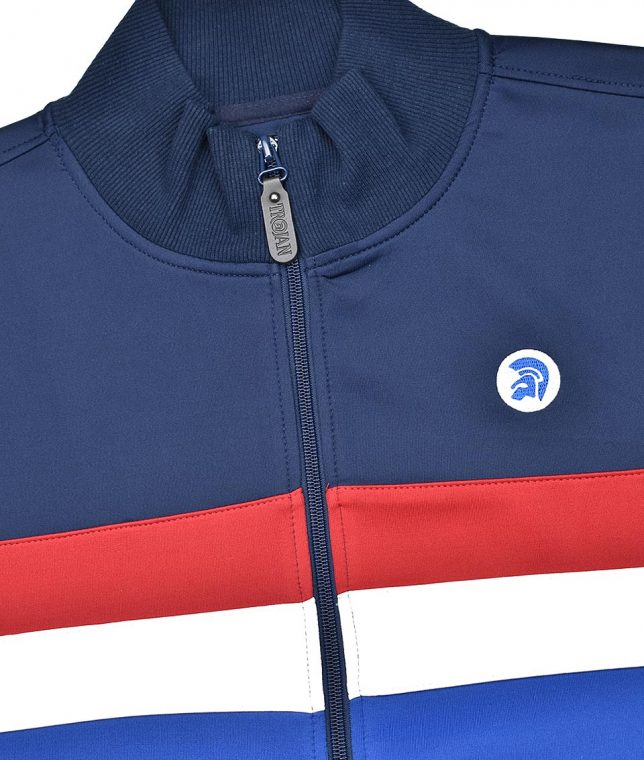 Trojan Records Navy Stripe Front Track Top
