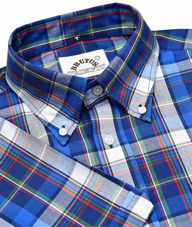 Brutus Blue Madras Check Shirt