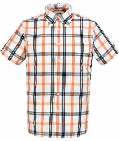 Brutus White Orange Big Check Shirt