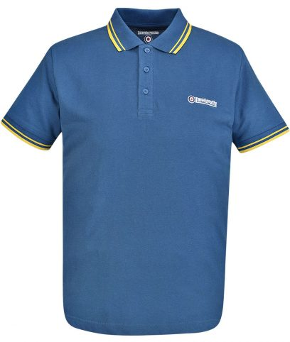 Lambretta Denim & Gold Tipped Polo T-Shirt
