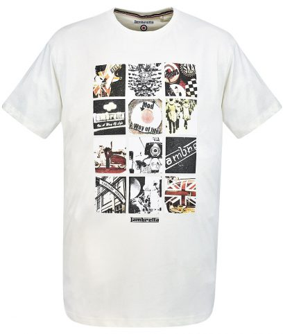 Lambretta Ecru Mod Photo Print T-Shirt