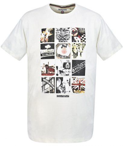3c12039d6 Lambretta Ecru Mod Photo Print T-Shirt