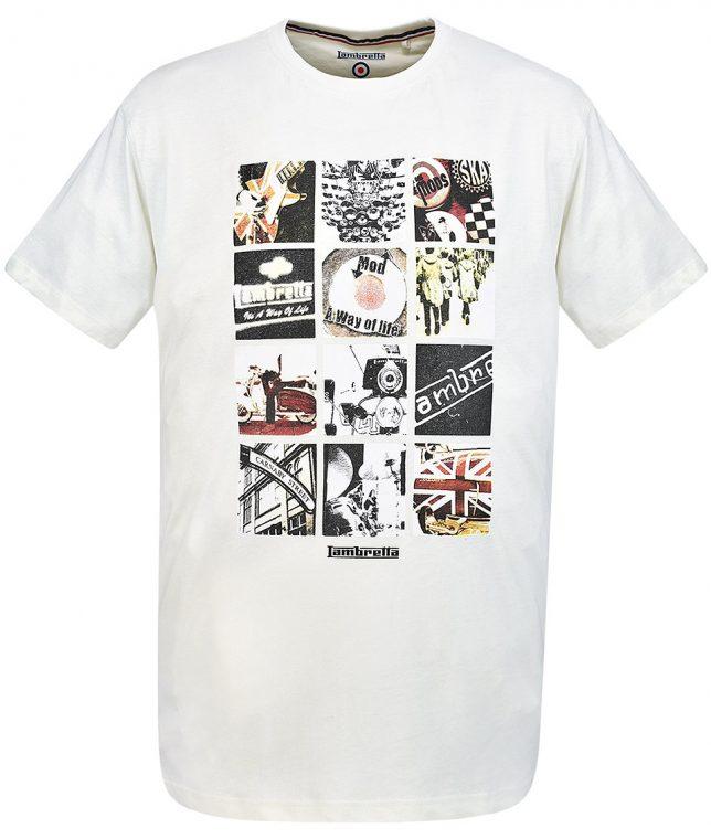 Lambretta Ecru Mod Photo Print T-Shirt