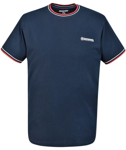 Lambretta Navy Plain Crew Neck Top