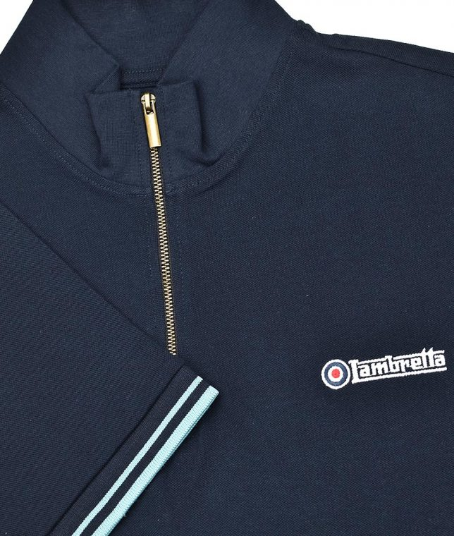 Lambretta Navy Plain Cycling Top