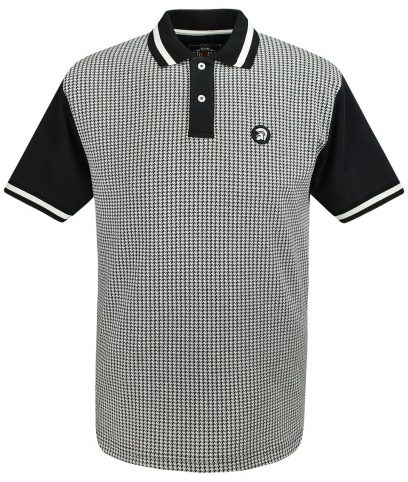 Trojan Records Black Houndstooth Polo T-Shirt
