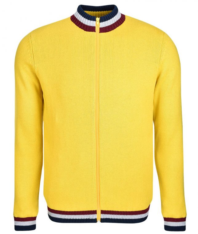 Art Gallery Mustard Clarke Knitted Zip Cardigan