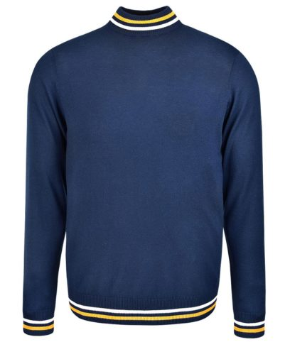 Art Gallery Navy Haye Turtle Neck Jumper