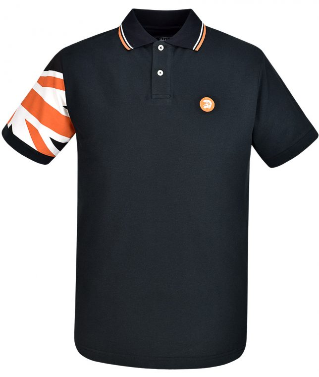 Trojan Records Black Union Jack Sleeve Polo T-Shirt