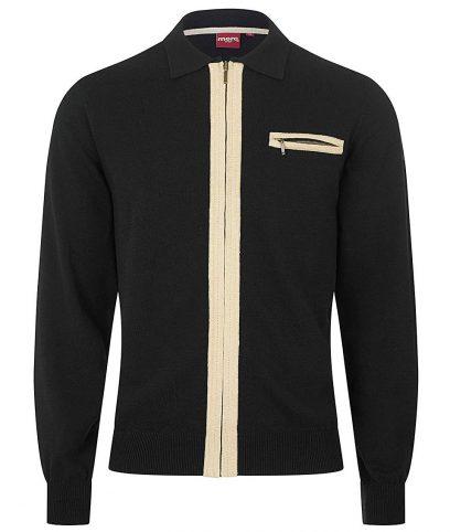 Merc Black Belsize LS Zip Cardigan