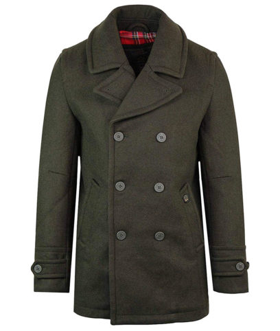 Merc Dark Khaki Doyle Pea Coat