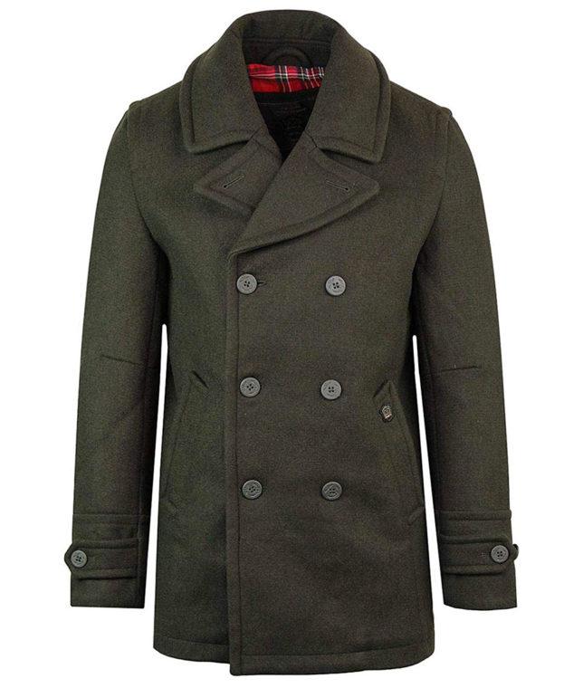 Merc Dark Khaki Doyle Pea Coat