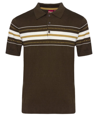 Merc Dark Sage Tanner Knit Polo Shirt