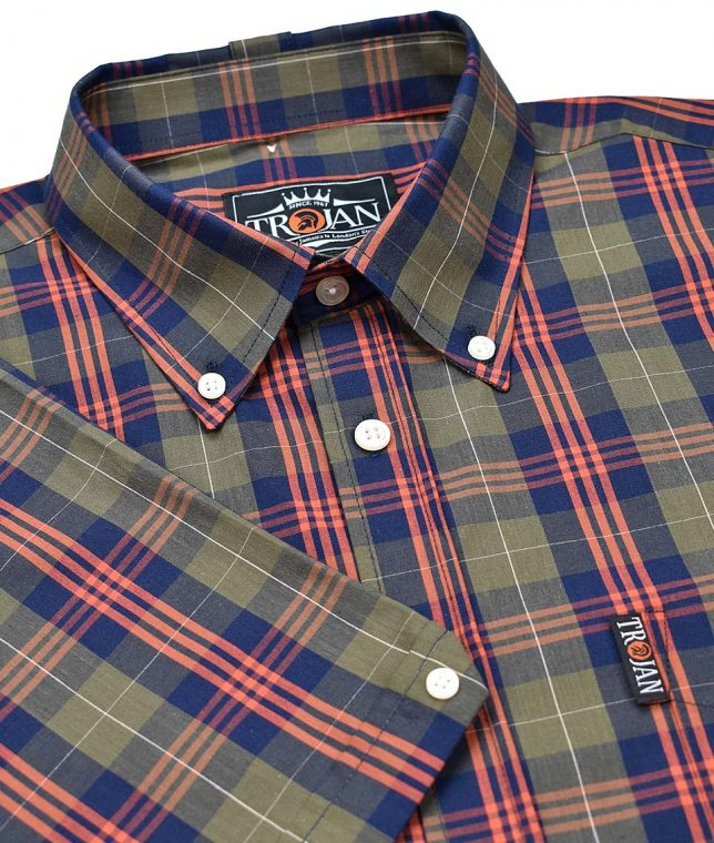 Trojan Records Olive Tartan Check Shirt