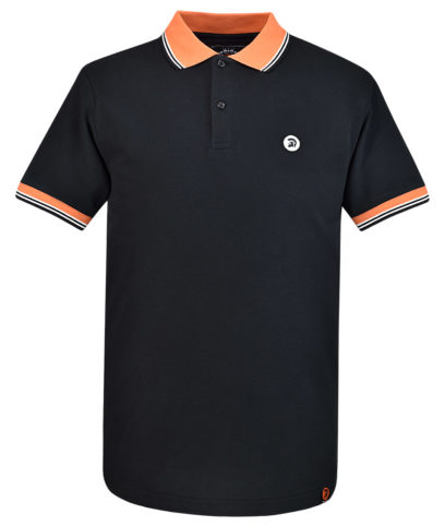 Trojan Records Black Contrast Trim Polo Shirt