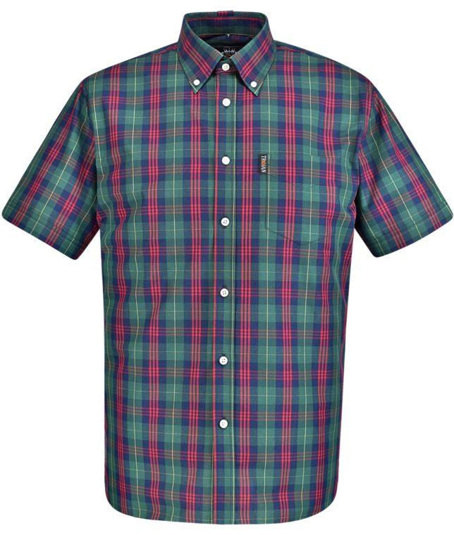 Trojan Records Green Tartan Check Shirt