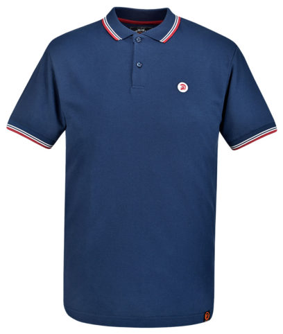 Trojan Records Navy Tipped Plain Polo Shirt
