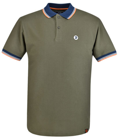 Trojan Records Olive Contrast Trim Polo Shirt