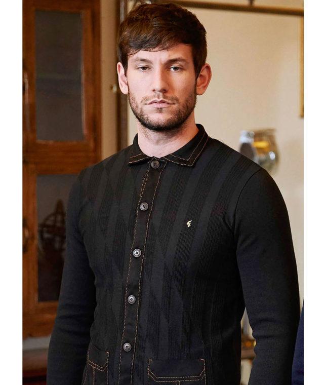 Gabicci Vintage Black Limited Edition Cardigan