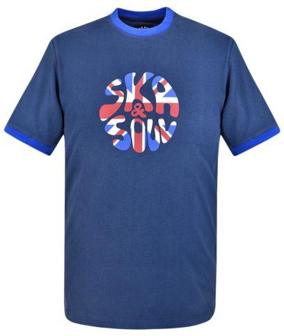 Ska & Soul Navy Union Jack Logo T-Shirt