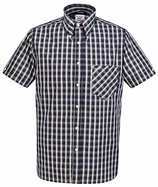 Britac SL438 Black Check Shirt