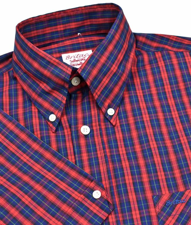 Britac SL440 Navy & Red Check Shirt