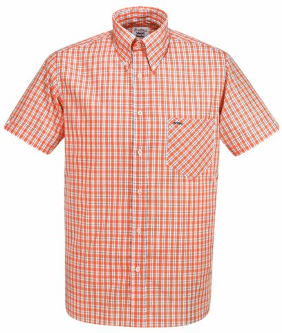 Britac SL444 Orange Check Shirt