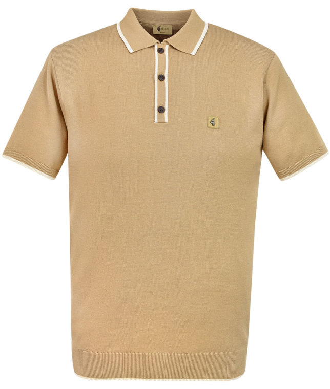 Gabicci Vintage Butterscotch Tipped Polo Shirt