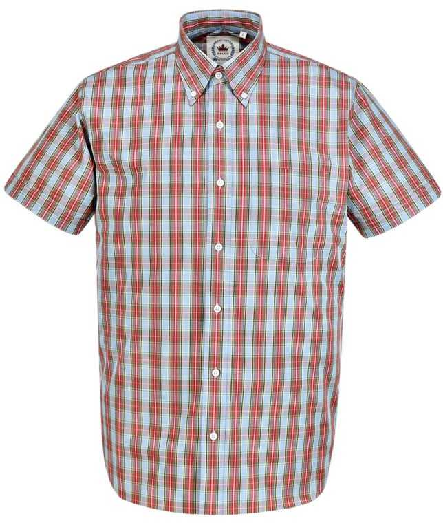 Relco Blue CK35 Check Shirt