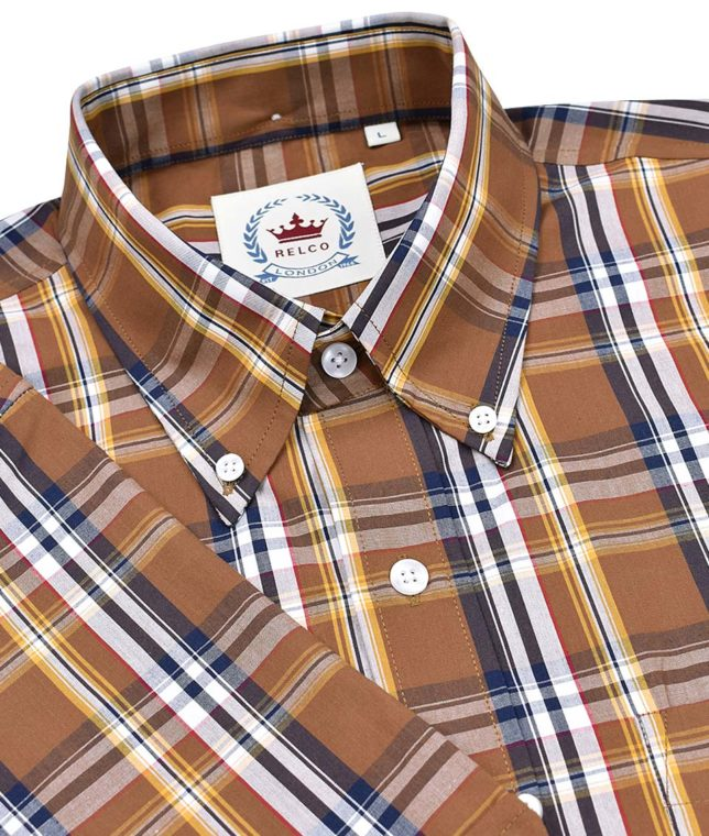 Relco Brown CK38 Check Shirt
