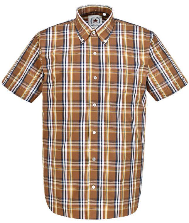 Relco Brown CK38 Check Shirt