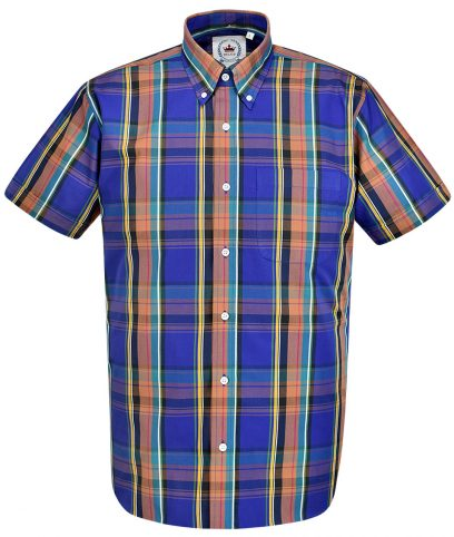 Relco Purple CK36 Check Shirt