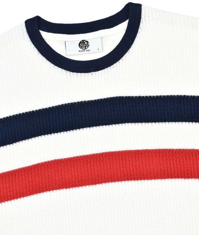 Art Gallery Off White Goldhawk Stripe Knit Top